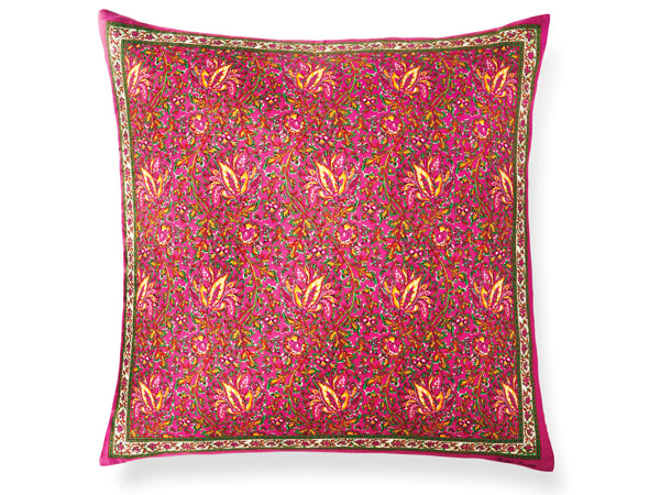 Sienna Fuchsia Floral Throw Pillow