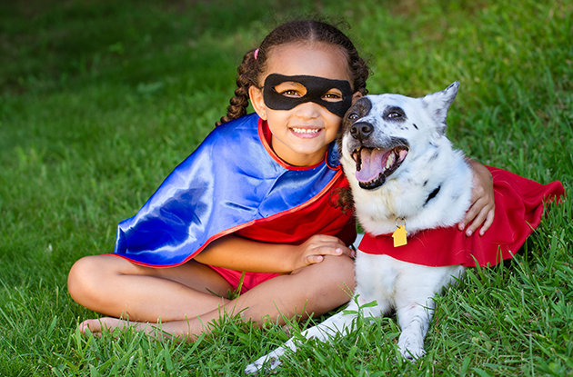 supergirl with dog