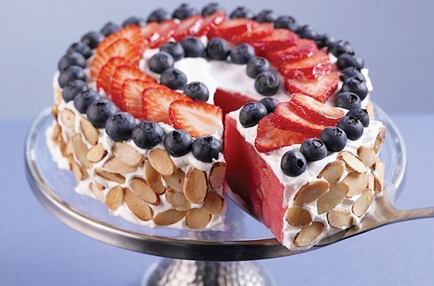Red, White & Blue Watermelon 'Cake'