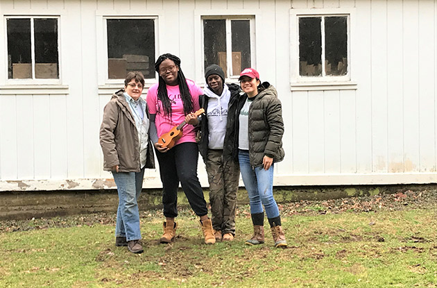 Academy of Holy Angels Students Volunteer at a Farm in Rural West Virginia