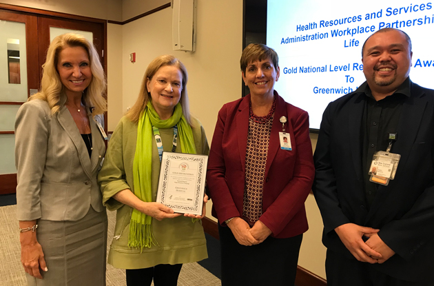 Greenwich Hospitals Receives Workplace Partnership for Life Gold Award from the U.S. Health Resources and Services Administration