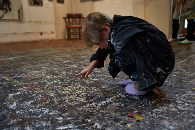 Family Drip-Painting Workshops at the Pollack-Krasner Home