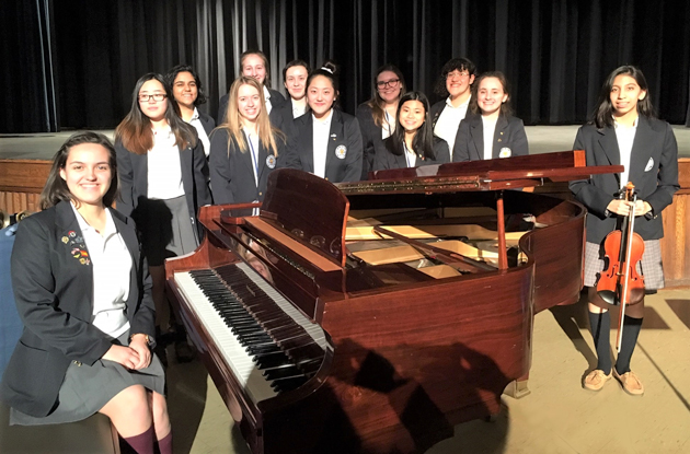 Students of Academy of Holy Angels Inducted into Musical Honor Society