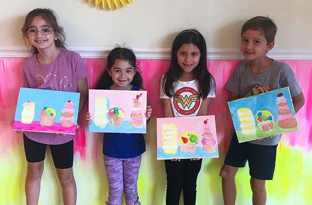 Painting Parties and Summer Camps Now Available at Bee You Art Studio in Bayside