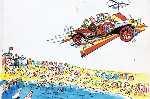 Original Illustrations from 'Chitty Chitty Bang Bang!' Are Now on Display at the New-York Historical Society