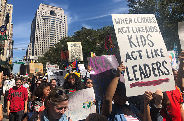 Thousands of NYC Kids Ditch School for Climate Strike September 20