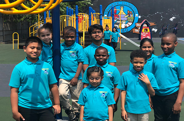 The Edward K. Ellington Magnet School of Science, Technology, and the Arts Welcomes New Schoolyard