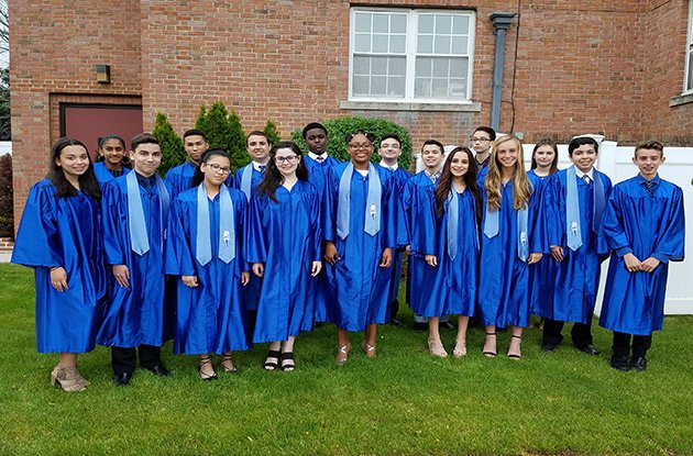 Saint Elizabeth Ann Seton Awards Graduating Eighth Grader
