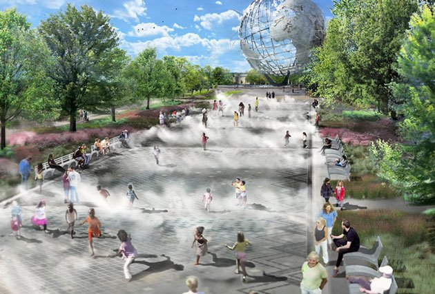 Flushing Meadows Corona Park is Getting a New Water Playground