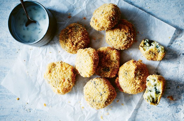 hazana potato and spinach croquettes