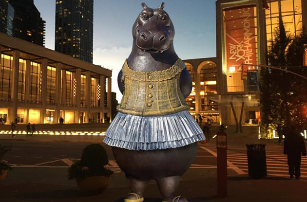 Snap a Photo with This Hippo Ballerina for a Chance to Win Free Tickets to Lincoln Center