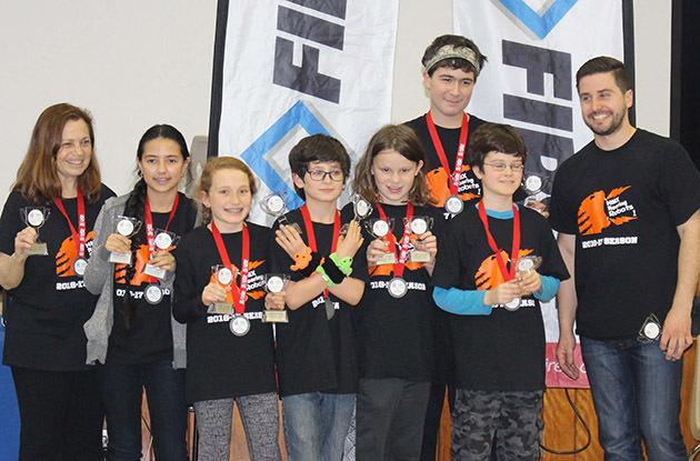 Larchmont Robotics Team Awarded Trophy at FIRST Lego League Competition
