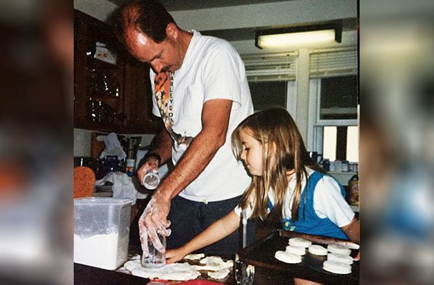 katelin cooking with father