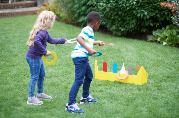 kids playing ring toss
