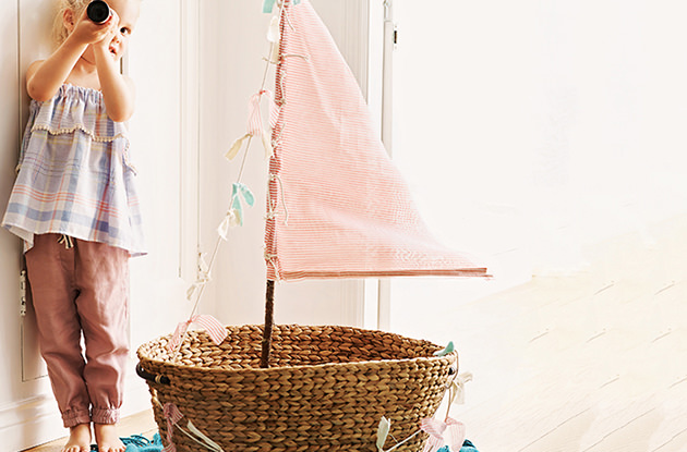 DIY Sail Boat for Imaginary Play