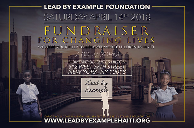 Lead By Example Fundraiser to Help Students in Haiti