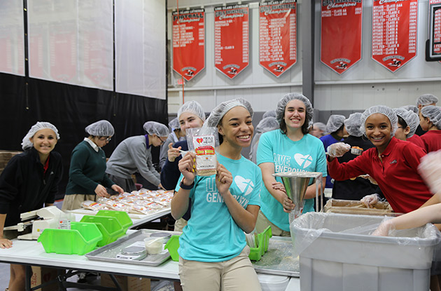 Long Island Lutheran Middle and High School Meal Packing Event Packs Over 300,000 Meals for Food Pantries and Haiti