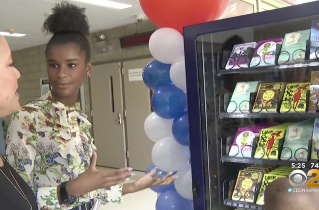 14-Year-Old Helps Launch Book Vending Machines for Kids Across NYC