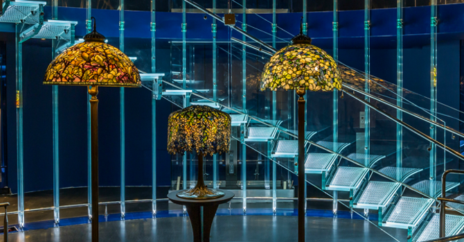 Spectacular Tiffany Lamps Light the Way: New-York Historical Society's Fourth Floor Renovation