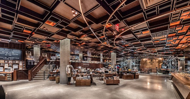 Artisanal Coffee & Cocktails at New Starbucks Reserve Roastery New York