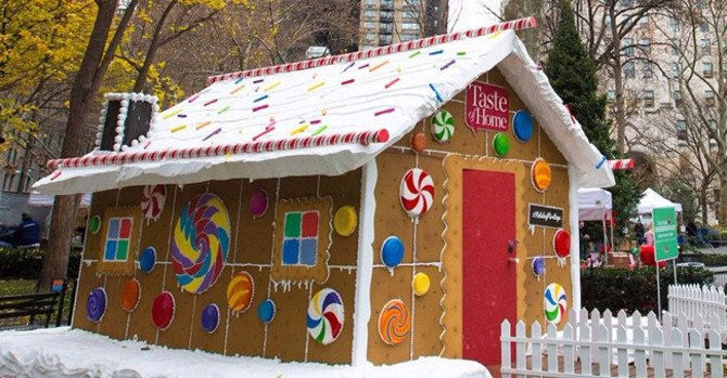Fifth Annual 'Taste of Home' Gingerbread Boulevard at Madison Square Park