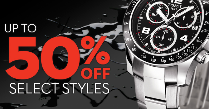Half Off Savings on Select Tissot Watches From Black Friday Through Cyber Monday