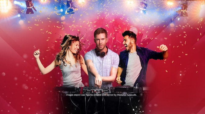 Silent Summer Disco Parties with DJ Calvin Harris at Madame Tussauds New York