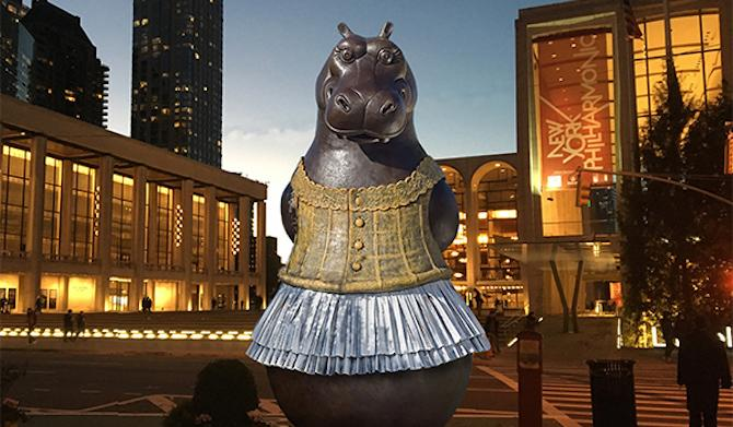 Fend Off the February Blues with Art: Epic Sculpture Hippo Ballerina and Friends