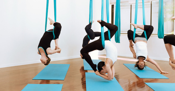 A New Dimension in Yoga: Circus Silks and Aerial Yoga NYC