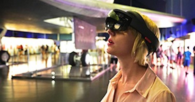 See the Mixed VR Defying Gravity: Women in Space at the Intrepid Museum