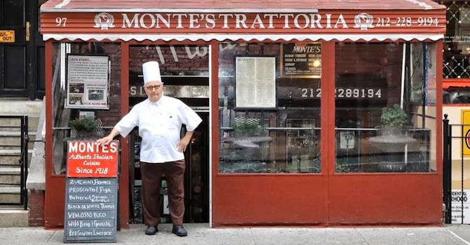'The Chef of Greenwich Village' Shares Family Recipes from Monte's & Villa Mosconi