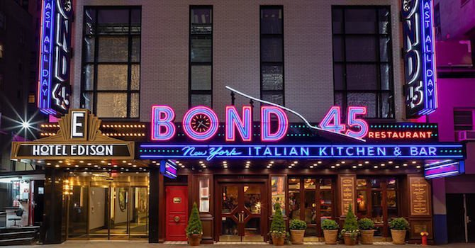 Italian Cuisine & Live Music at Times Square's Bond 45