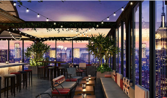 NYC's Largest Rooftop Bar Opens at Moxy Times Square