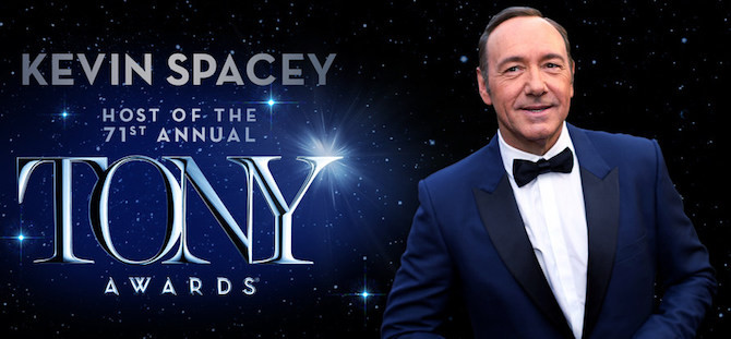 Kevin Spacey to Host 2017 Tony Awards