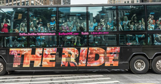 NYC's Virtual Reality Bus Tour: The Downtown Experience Powered by THE RIDE
