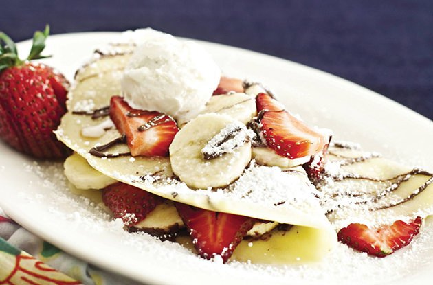 Image result for strawberry banana crepe