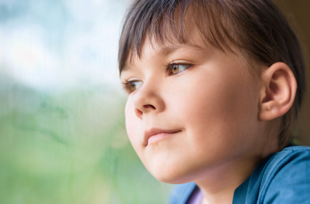 child looking into distance