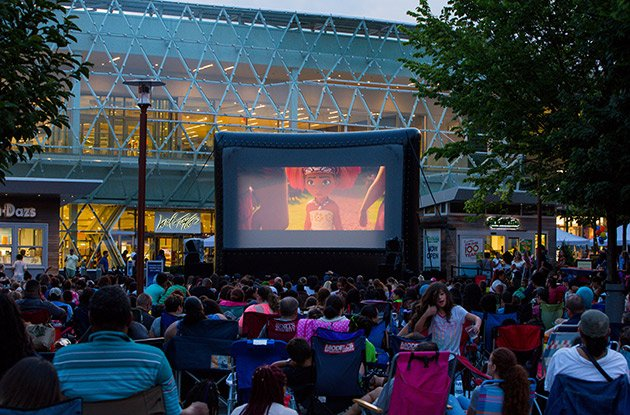 Ridge Hill Shopping Center Hosts Movie Series and Welcomes Community Garden