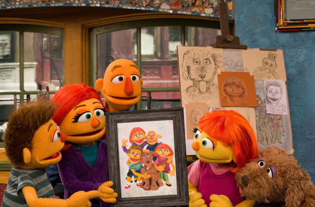 Sesame Street Unveils Julia's Family in Honor of Autism Awareness Month