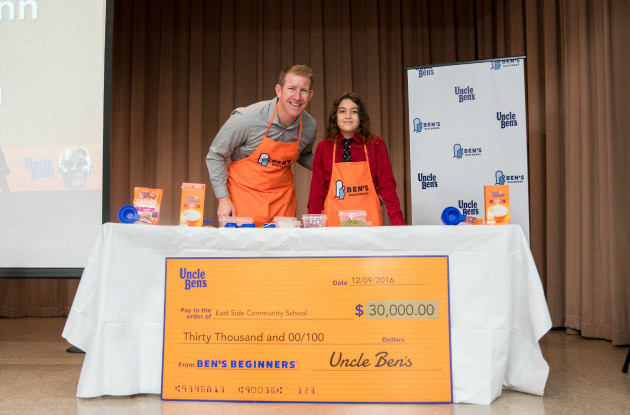 New York City Boy Wins Grand Prize in Ben's Beginners Cooking Contest by Uncle Ben's
