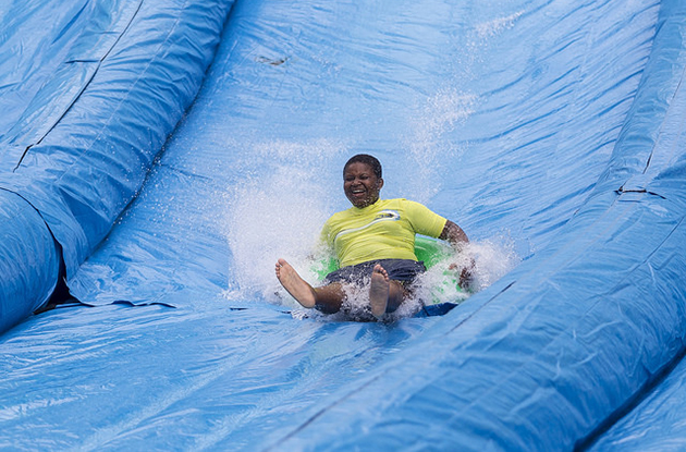 Giant Water Slide Takes Over Manhattan Streets on Saturdays in August