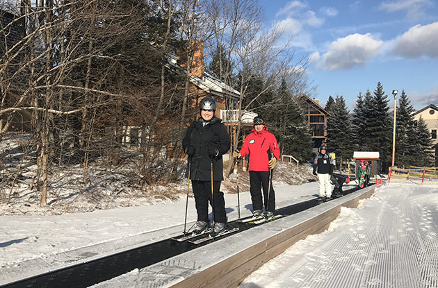 Learning to Ski in the Catskills