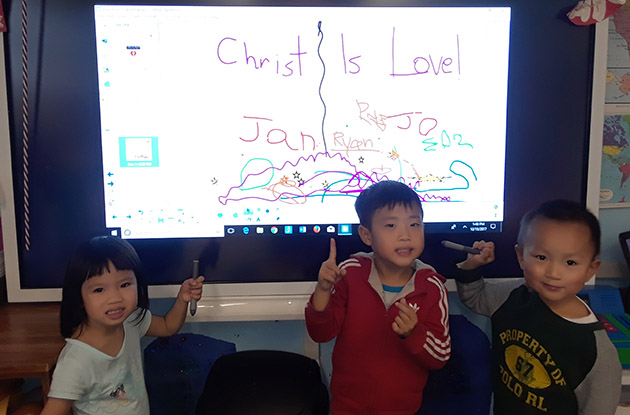 Circle of Friends Early Learning Center Adds SMART Board