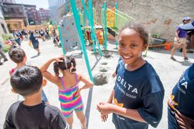 Volunteers Work to Improve Bronx Kids' Lives & Futures with New Playground