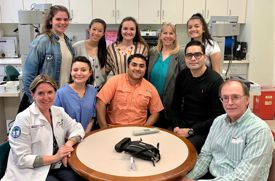 Academy of the Holy Angels Seniors Visit Columbia's Microsurgery Training Lab