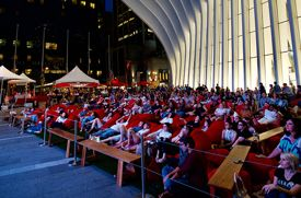 'Tribeca Drive-In: Dinner and a Movie' Outdoor Film Series Returns to the Oculus This Summer