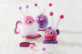 How to Make Valentine's Day Pompom Critters
