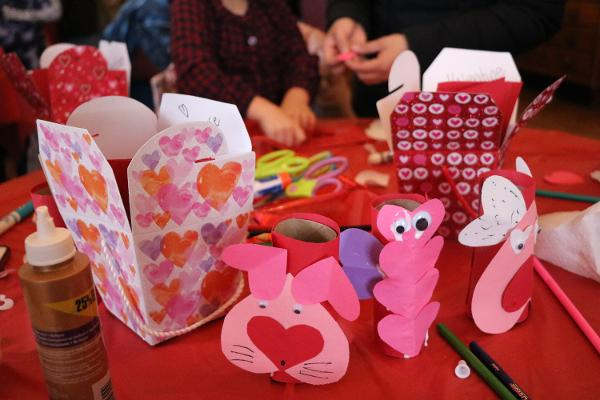Valentine Crafts at the Castle at Bayside Historical Society