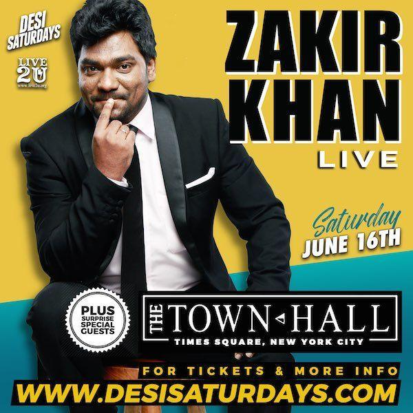 Zakir Khan Live in Times Square NYC - India's # 1 Standup Comedian at The Town Hall