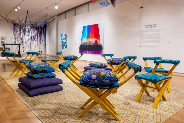 Carrie Moyer and Sheila Pepe: Tabernacles for Trying Times at Museum of Arts and Design